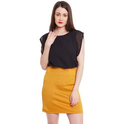 Zima Leto Women's Blouson Black, Yellow Dress