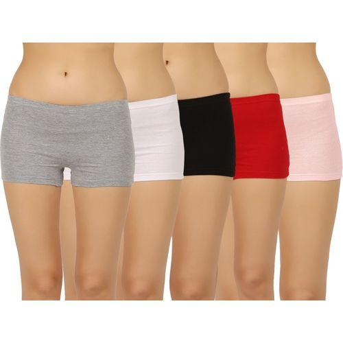 45bcba1c2 Buy Vaishma Women s Boy Short Multicolor Panty(Pack of 5) online ...