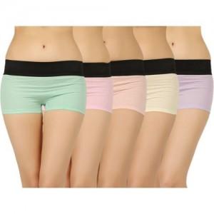 Vaishma Women's Boy Short Multicolor Panty(Pack of 5)