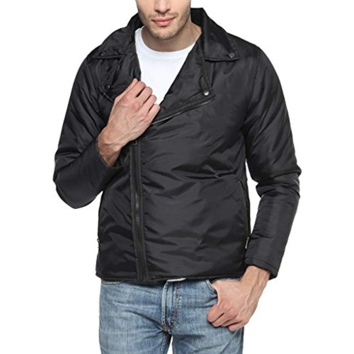 Campus Sutra Black Mens cotton Bomber Jacket