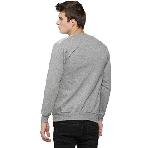 Campus Sutra Grey Cotton Solid Jacket