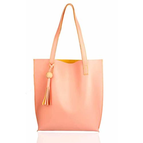 Mammon Women's Handbags(plain-pink,35x35 Cm)