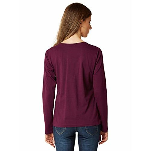 Miss Chase Women's Magenta Criss Cross Basic Top