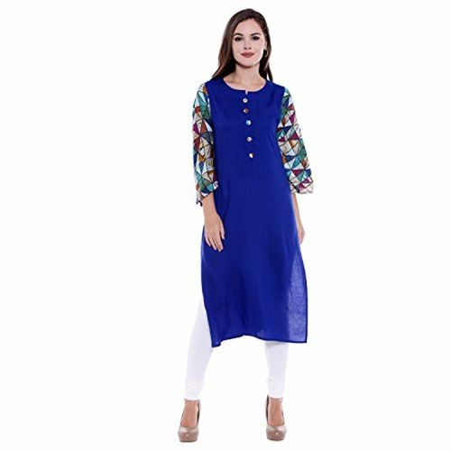 58bd914315de Oomph! Indo Western Rayon Kurtis for Women Party Wear - Straight with Bell  ...