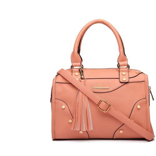 Diana Korr Pink Textured PU Hand-held Bag