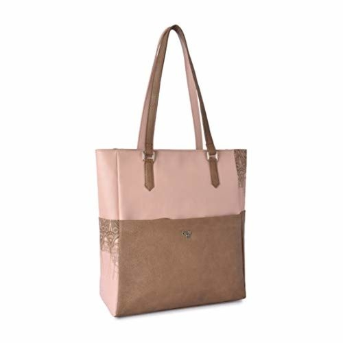 Baggit Beige Polyurethane Solid Handbag