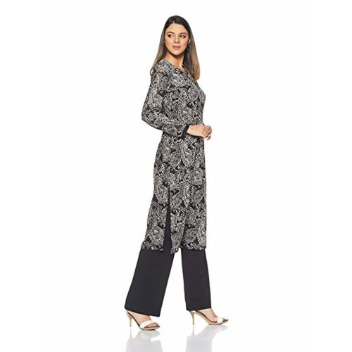 BIBA Women's Straight Winter Kurta