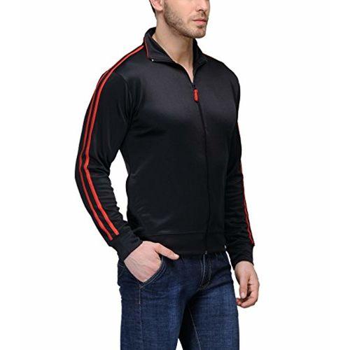 Scott International Scott Premium Dryfit Sports Jackets for Men - Black with Red Stripes