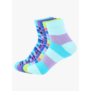 Supersox Multi Coloured Cotton Printed Socks Pack Of 5