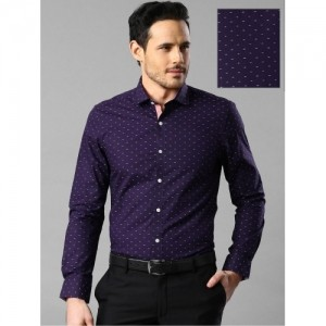 59a22386101 Buy Invictus Purple Cotton Printed Men s Formal Shirt online ...