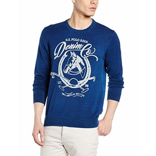 US Polo Association U.S. Polo Denim Co. Men's Cotton Sweater