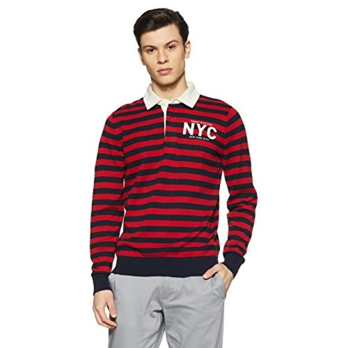 Tommy Hilfiger Red Cotton Sweater