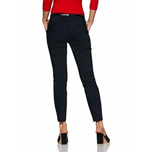 VERO MODA Women's Slim Fit Pants (195417201_Navy Blazer_Medium)
