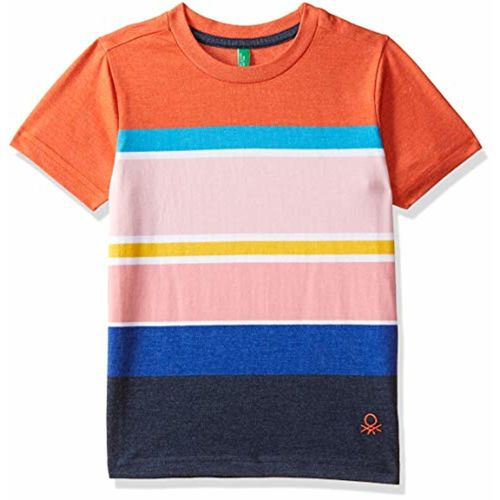United Colors of Benetton Boys' Striped Regular Fit T-Shirt