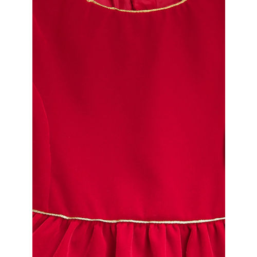 United Colors of Benetton Girls Red Solid Fit and Flare Dress