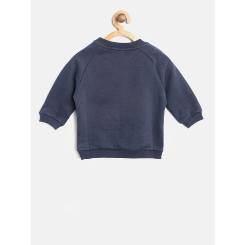 United Colors of Benetton Girls Navy Blue Printed Sweatshirt