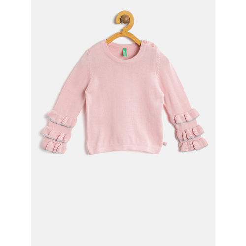 5884631a5 Buy United Colors of Benetton Girls Pink Solid Pullover online ...