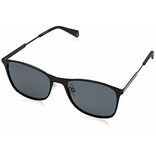 Polaroid Polarized Rectangular Men's Sunglasses - (PLD 2051/S 807 54M9|54|Grey Color)