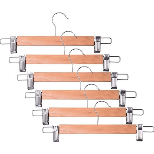 Brecken Paul Wooden, Stainless Steel Pack of 6 Cloth Hangers(Yellow)