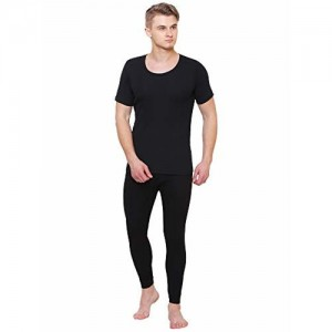 Bodycare Insider Bodycare Off Black Solid Men Thermal Lower