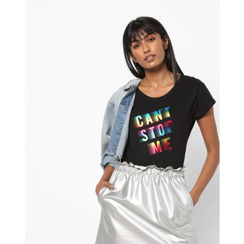 Teamspirit Typographic Print Crew-Neck T-shirt