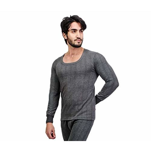 ZIMFIT Cotton Men's or Boy's Winter wear Round Neck Full Sleeves Thermal,Warmer Top in Dark Grey Colour (Pack of 1)