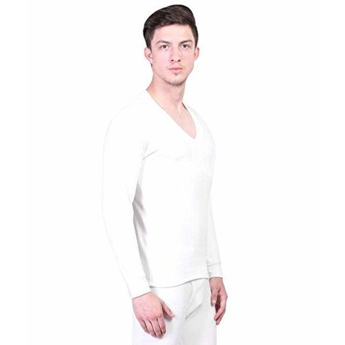 Alfa Men's Quilted White Thermal Winter Top + 1 Pair Socks Free