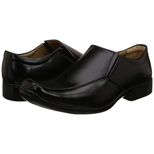 BATA Black Synthetic Slip On Formal Shoes