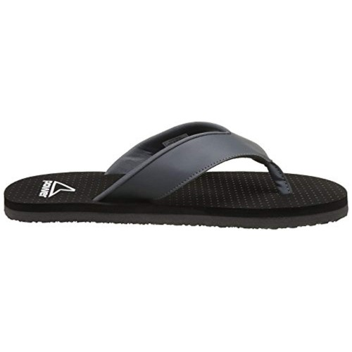 Power Black Rubber Slip On Slippers