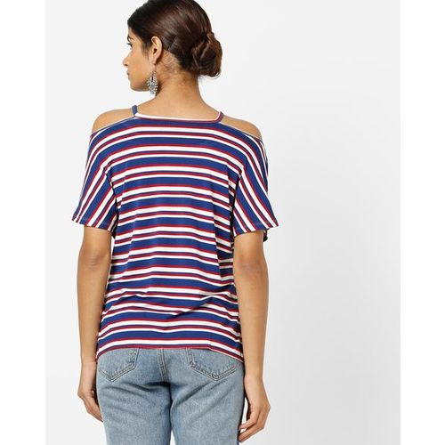 98cf5f6a1cc50 Buy ONLY Striped Cold-Shoulder T-shirt online