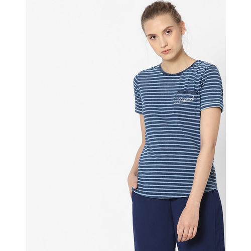 e749e70efb Buy Lee Striped T-shirt with Printed Patch Work online | Looksgud.in