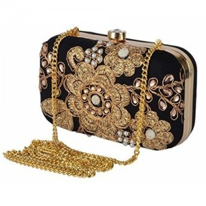 f4c28ec2d9fbc Revolution Handcrafted Designer Black velvet Stylish Party wear box clutch  for women. clutch for girls