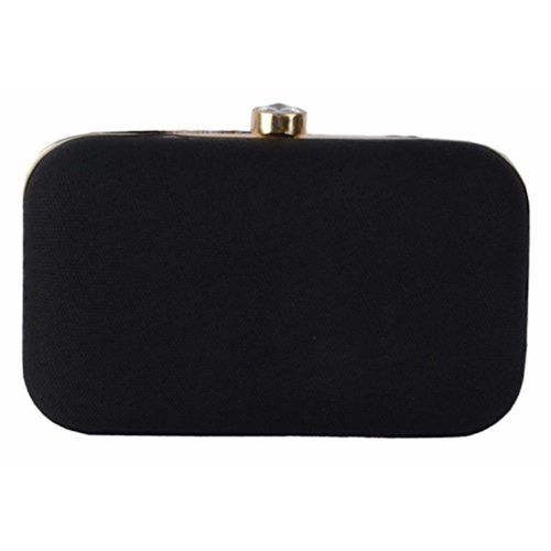 Revolution Handcrafted Designer Black velvet Stylish Party wear box clutch for women. clutch for girls.Specially Designed for Parties/Wedding/festivals/Casual