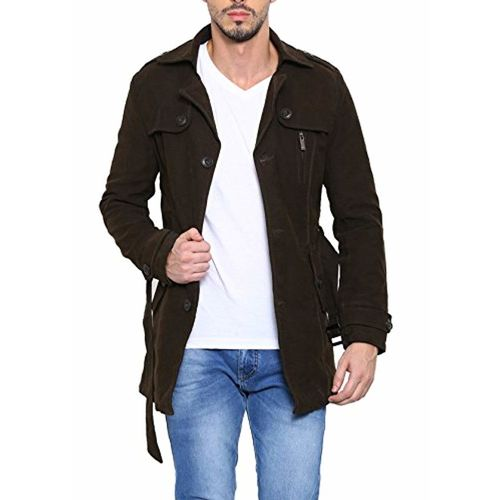 SHOWOFF Mens Olive Solid Casual Jackets