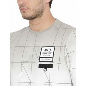Monte Carlo Cream Printed Blended Cotton Round Neck Sweatshirt