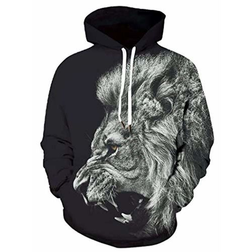 Digital Dress Room Black  Cotton  Warm 3D Print Sweatshirt