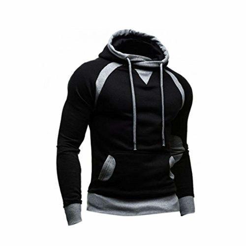 Sunward Black Cotton Warm Pullover Sweatshirt