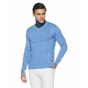 Fort Collins Skyblue Cotton Sweater