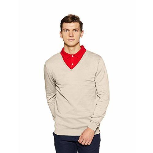 Peter England Cream Cotton Sweater