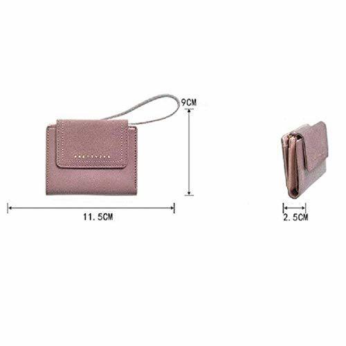 MOCA Women's Vintage Suede Nubuck PU Leather Grey Short Clutch Card Holder Wallet Hand Purse