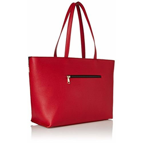 Caprese Philis Women's Tote Bag (Red, Grey and White)