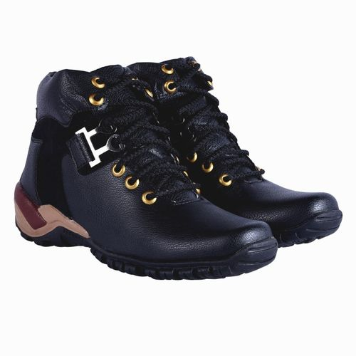 DLS Black Synthetic Casual Shoes