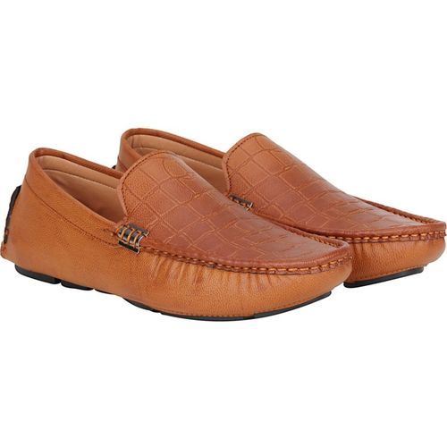 Kraasa Tan Synthetic Loafers