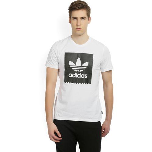 ADIDAS ORIGINALS Printed Men's Round Neck White T-Shirt