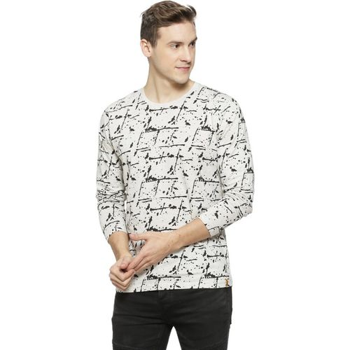 Campus Sutra Graphic Print Men Round Neck White T-Shirt
