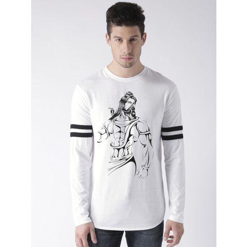 Young Trendz Printed Men Round Neck White T-Shirt