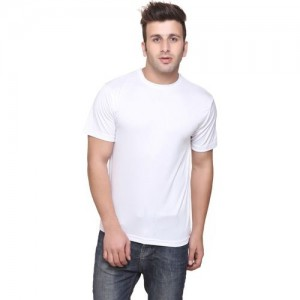 Concepts Solid Men's Round Neck White T-Shirt