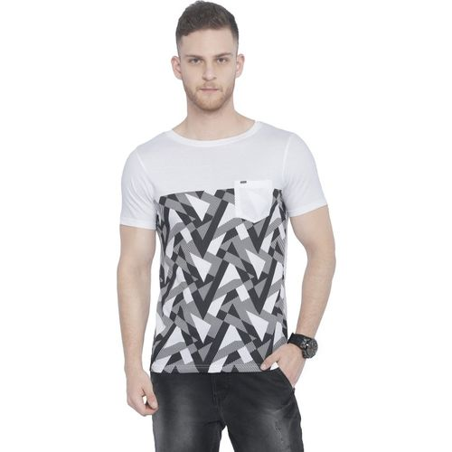 Rodid Printed Men's Round Neck White T-Shirt