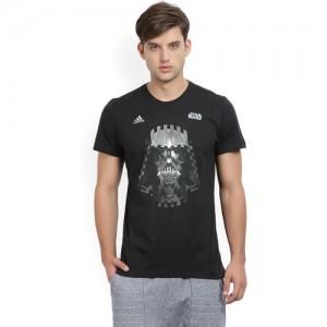 1a33bec30ae Buy Veirdo Black   Maroon Cotton Colorblock Men V-neck T-Shirt ...