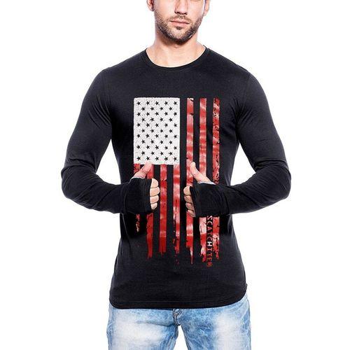 SCATCHITE Solid Men's Round Neck Black T-Shirt